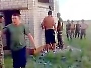 Russian Army Guys Fuck a Hoe Outdoors.