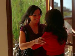 Fascinating Lesbian brunettes Veronica Avluv and Zoey Holloway
