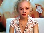 Cute Young Blonde Webcam Strip.