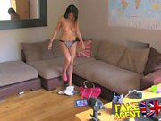 FakeAgentUK Creampie for really hot petite Romanian babe in office casting