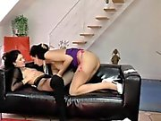 Stockings ho licks lesbo