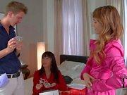 Erotic Foot fetisj scene with Leyla Black and Marica Hase
