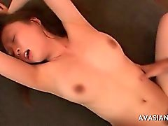Hairy japanese girls get an intense orgasm