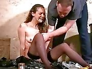 Filthy trash humiliation of messy degraded slaves