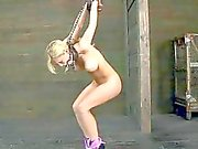 Chained babe needs sexy torture