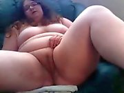 BBW playing with toy in pussy and had a loud orgasm