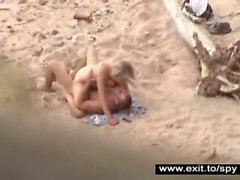 Hot Nudist couple caught on spy camera