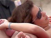 amateur couple beach handjob