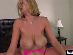 Katie Kox in fishnet stockings gets slammed