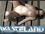Gorgeous sex slave gets fucked on the dungeon floor