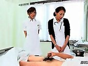Sexy asian nurses go crazy jerking