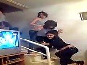 arabian girls show thongs while they dancing 2015