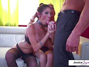 Jessica Jaymes and Dava Foxx fuck with Tommy Gunn