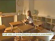 Miyu Hoshino Chinese schoolgirl enjoys being fucked from behind