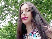 Hot babe Sasha Rose show wet Euro pussy for big cash