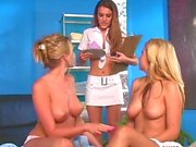 Andie Valentino, Carli Banks, Sandy Summers lesbian threesome