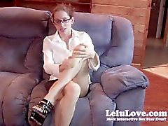 Lelu Love-Secretary Masturbation Heels Glasses