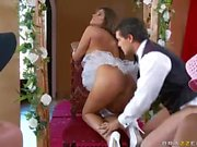 Sexy bride Madelyn Marie loves riding a big cock
