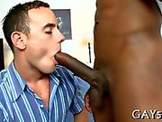 Cute dude gets split in two with a bbc