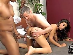 Just married Bride creampied by black in front of fiance
