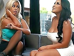 Big Titted Bridgette B and Kiara Mia amazing at threesome