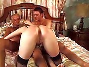 Lou Valmont - French Lady Fucked by two guys