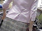 Outdoor Subway Air Vent Upskirt Panties Up
