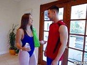 Nikki Benz gets caught blowing Abella Dangers boyfriend