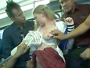 Blonde Cheergirl groped & used on a bus