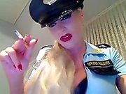 German Blonde Smokes & Dominates On Cam