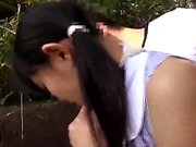 Soft teen lips give lovely close up blowjob