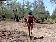 amateur milf high waist thong outdoors
