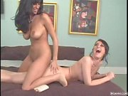Cassia Riley and Jaime Hammer playing and rubbing each other big tits