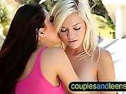 Teen sucking cock outdoor