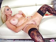 Cute Nikki Benz Reveal her big tits and perfectly tight pussy