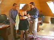 Lady fucked by two Bussiness guys