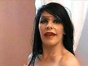 Gothic mistress and slavegirl sucking black dick