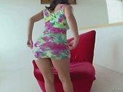 Black haired sexy Lliv Aguilera in sexy mini dress shows : Pornsharing porno video