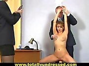 Dirty job interview for sweet young secretary babe