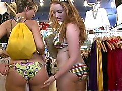 Kelsey Michaels and Alina Aldamen Go Shopping in South Beach