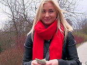 Hawt blond called Cayla Lyons will take the cash and acquire group-fucked hard