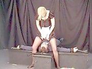 Maid Facesitting tied man