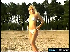 Blonde Beach Babe Being A Tease