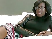 Ebon teenie gets fully gratified with her fuckmate