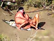 Nude Beach - Fingering with Watcher
