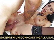 CASTING ALLA ITALIANA - Italian Amateur babe gets anal sex