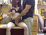 Nerd chick pounded by horny pawnkeeper in the pawnshop