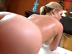 Huge butt blondie whore Sarah Vandella pussy pounded hard