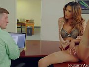 Buxom Heather Vahn seduces her husbands employee