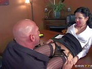 Milf Veronica Avluv is Johnny Sins' new secretary. The first